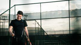 En man som tränar